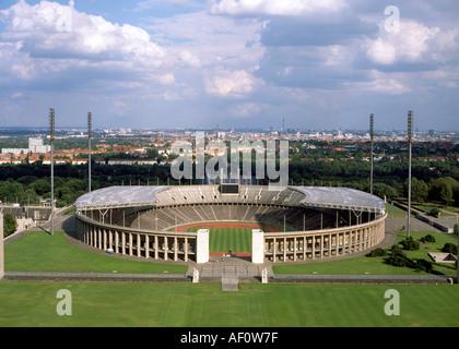 Berlin, Olympiastadion, Blick vom Glockenturm - Stock Photo