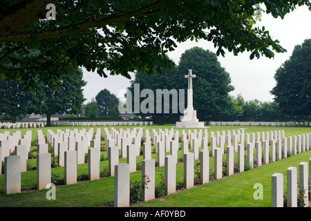 Bayeux Military Cemetery largest British Commonwealth WW2 Cemetery in the world Bayeux Normandy France - Stock Photo