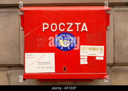Poland Poczta mail letter post box service - Stock Photo