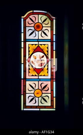 Stained Glass Door Panel In Irish Pub Stock Photo 36854760 Alamy