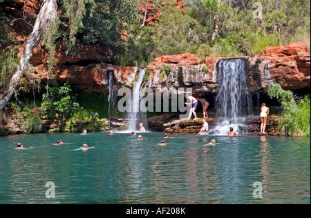 Swimming In Karijini National Park Stock Photo Royalty Free Image 18589497 Alamy