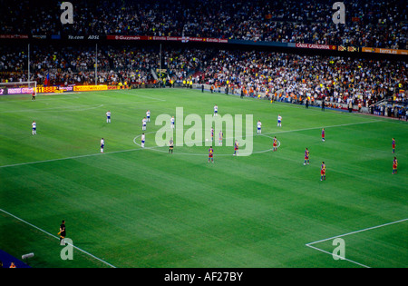 FC Barcelona vs Real Zaragoza  football match at The Camp Nou stadium in Barcelona - Stock Photo