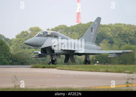 UK Air Force Eurofighter EF-2000 Typhoon T1 - Stock Photo