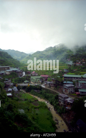 Banaue in The Mist Philippines - Stock Photo