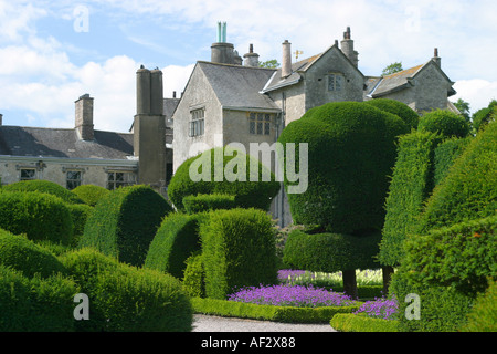Levens hall Stately Home and gardens lake district cumbria topiary gardens - Stock Photo