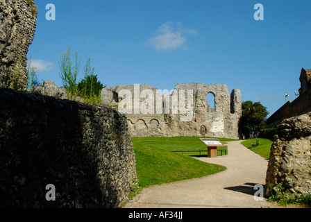 View of the remains of Reading Abbey Berkshire England - Stock Photo