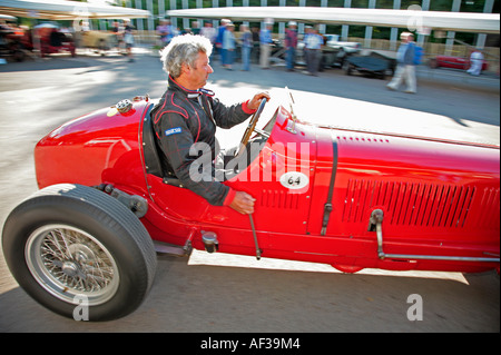 1933 Maserati 8CM leaves the paddock at the Goodwood Festival of Speed, Sussex, England. - Stock Photo