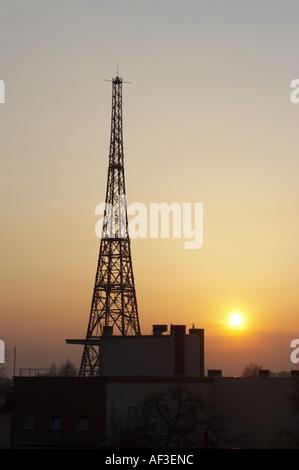 Gliwice Radio Tower Poland - Stock Photo