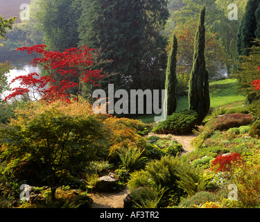 GB - HEREFORDSHIRE:  Weir Gardens on the north bank of the River Wye - Stock Photo