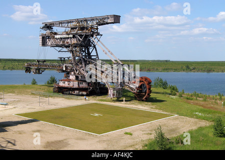 Ferropolis Industry museum to the brown coal open cast mining in Germany - Stock Photo