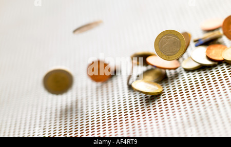 Coins falling - Stock Photo