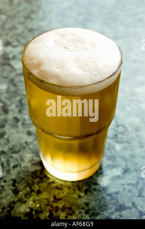 LAGER BEER ON BAR . CORAL BEER - Stock Photo