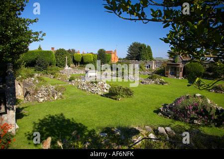 Shaftesbury Abbey Ruins, Shaftesbury, Dorset, England, UK - Stock Photo