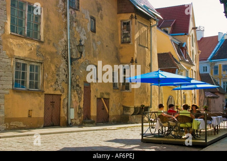 Quiet Esplanade in Old Town Tallinn Estonia - Stock Photo