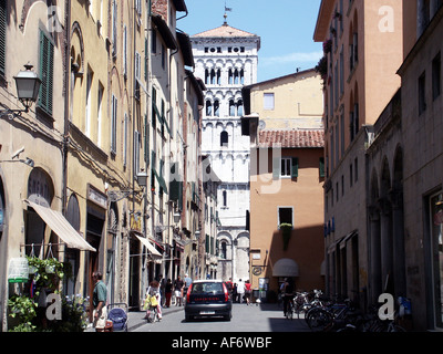 geography / travel, Italy, Tuscany, Lucca, Via Becceria, Additional-Rights-Clearance-Info-Not-Available - Stock Photo