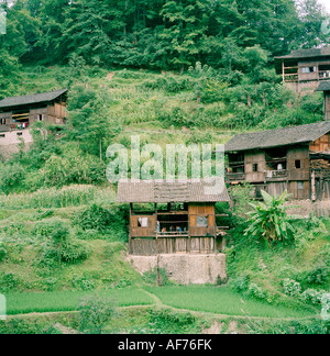 World Travel. Miao Village in rural Guizhou Province in China in East Asia. Adventure Intrepid Culture Travel Far - Stock Photo
