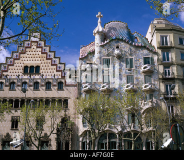 geography / travel, Spain, Barcelona, buildings, Additional-Rights-Clearance-Info-Not-Available - Stock Photo