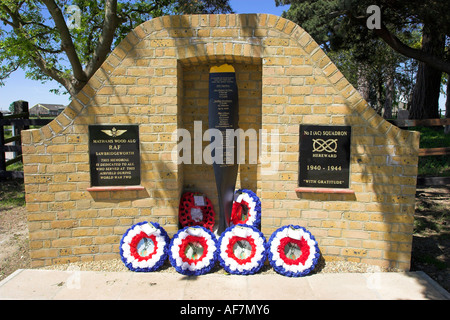 War memorial to airmen who served in the 2nd world war on the Sawbridgeworth airdrome in Hertfordshire - Stock Photo