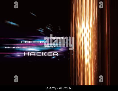 Computer hacker illustration - Stock Photo