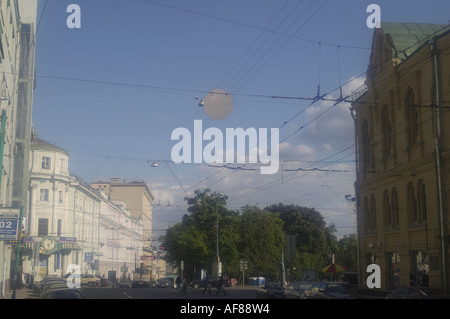 Moscow typical view with soft filter - Stock Photo