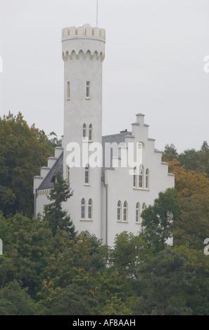 Island of Ruegen, Lietzow castle, Mecklenburg-Pomerania, Germany, Europe - Stock Photo