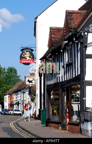 High Street, Droitwich, Worcestershire, England, UK - Stock Photo