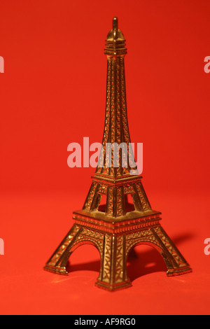 A Stock Photograph of a Model of the Eiffel Tower - Stock Photo