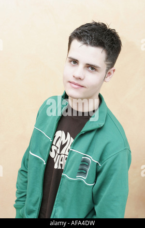 Portrait of teenage boy. - Stock Photo
