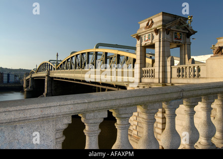 Rochester Bridge over River Medway Rochester Kent UK - Stock Photo