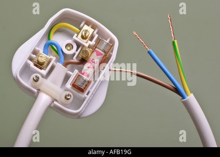 Three Core Cable with Brown Live Wire Green and Yellow Earth Wire ...