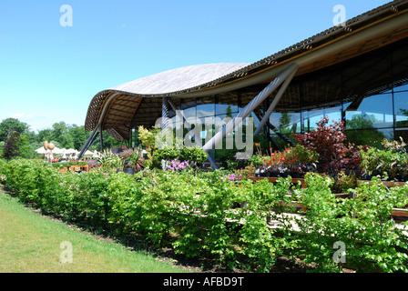 Garden Shop, Savill Building, Savill Garden, Windsor Great Park, Englefield Green, Surrey, England, United Kingdom - Stock Photo