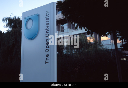 The Open University Walton Hall Milton Keynes MK MK17 6AA United Kingdom of Great Britain Northern Ireland - Stock Photo
