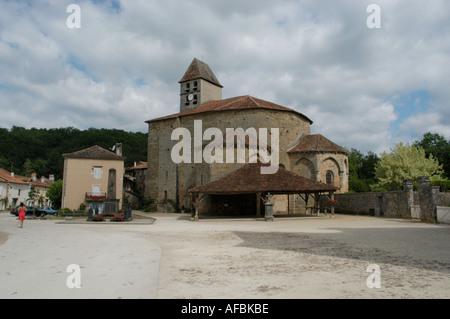 st jean de cole in the  dordogne france - Stock Photo