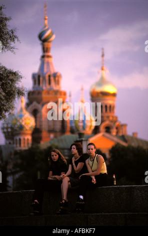St Petersburg the church of the Bleeding Savior - Stock Photo