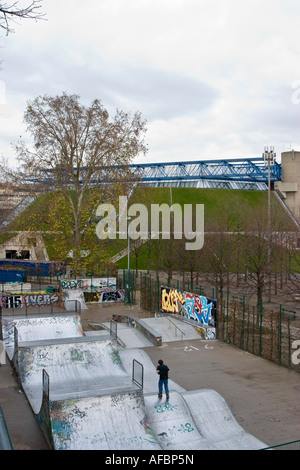 Skateboard Park Palais Omnisports de Paris Bercy - Stock Photo