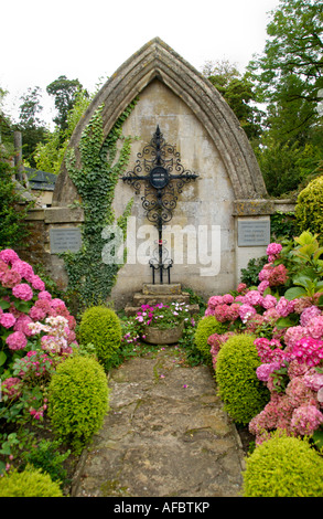 War Memorial in Castle Combe Wiltshire England UK - Stock Photo