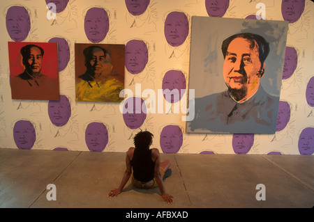 Pennsylvania Pittsburgh Andy Warhol Museum Mao century American pop artist visitor - Stock Photo