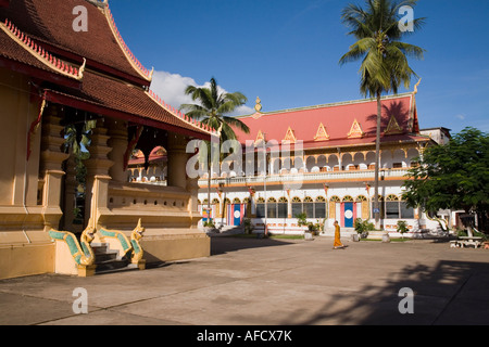 Within the grounds of Wat Ong Teu Mahawihan, Vientiane, Laos - Stock Photo