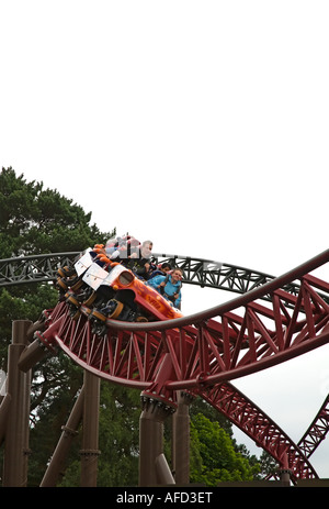 Rita Queen of Speed ride Alton Towers UK - Stock Photo