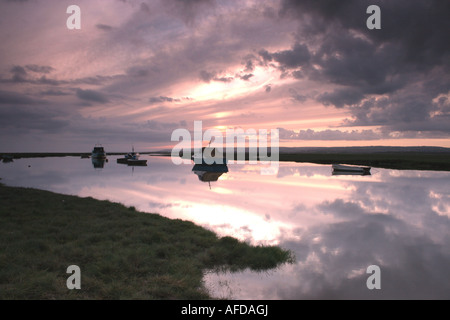 Reflections at Penclawdd - Stock Photo