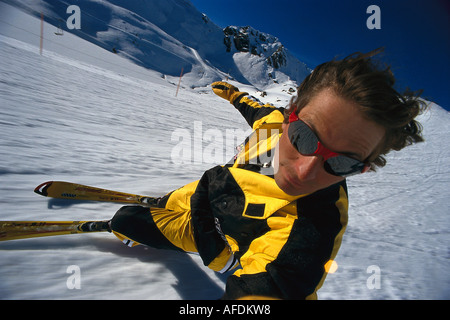 Skifahrer, Carving - Stock Photo
