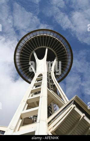 Seattle Space Needle Washington USA - Stock Photo