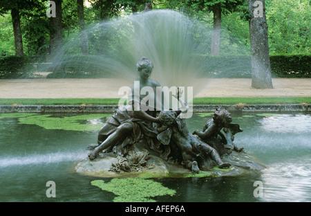 Fountain Gardens of La Granja Spain - Stock Photo