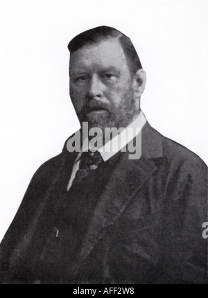 BRAM STOKER 1847 to 1912 Irish author of Dracula - Stock Photo