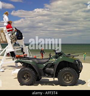 Lifeguards on duty, beach scene - Stock Photo