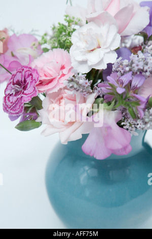 Vase of mixed flowers - Stock Photo
