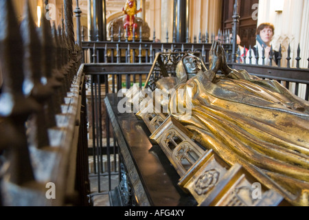The tomb of Margaret Countess of Lennox at the Lady Chapel Westminster Abbey London England UK - Stock Photo