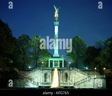 DE - BAVARIA: The Friedensengel in Munich - Stock Photo