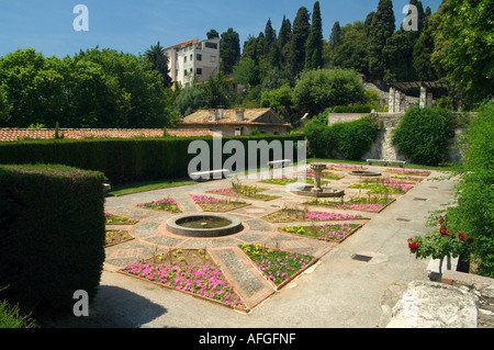 In the gardens of the Franciscan monastery at Cimiez in Nice on the Cote dAzur France - Stock Photo
