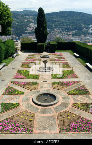 In the gardens of the Franciscan monastery at Cimiez in Nice on the Cote d'Azur France - Stock Photo